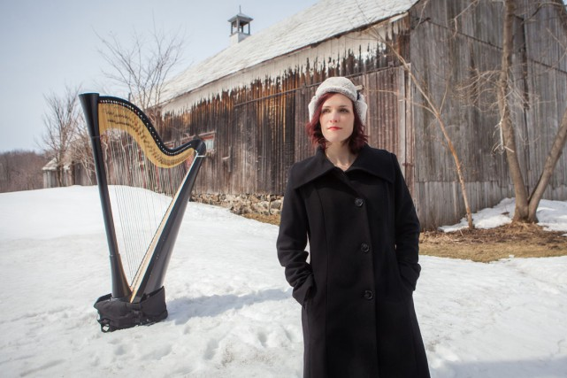 La harpiste Valérie Milot présente un septième album,... (Amélie Fortin)