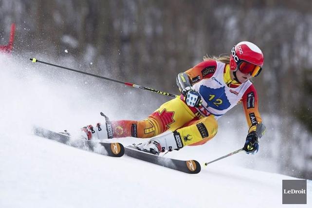 La skieuse Valérie Grenier a remporté la médaille... (Archives, Le Droit)