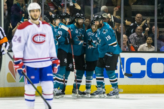Le Canadien nage de plus en plus en eau trouble. Joe Pavelski a récolté deux... (PHOTO REUTERS)