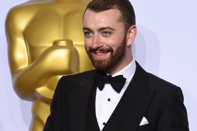 Dimanche soir, le chanteur Sam Smith a remporté... (PHOTO FREDERIC J. BROWN, AGENCE FRANCE-PRESSE)
