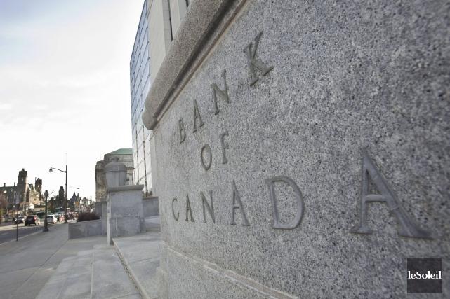 La banque centrale du Canada indique que les... (Photothèque Le Soleil, AFP Geoff Robins)