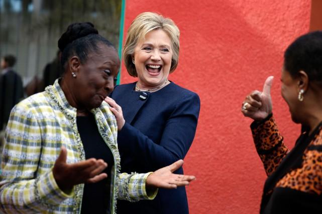 Hillary Clinton est populaire auprès des Afro-Américaines, dont... (PhotoIsaac Brekken,The New York Times)