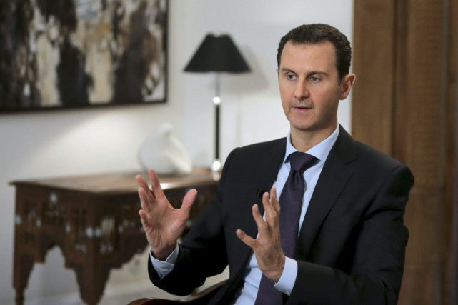 Bachar al-Assad... (PHOTO JOSEPH EID, ARCHIVES AFP)