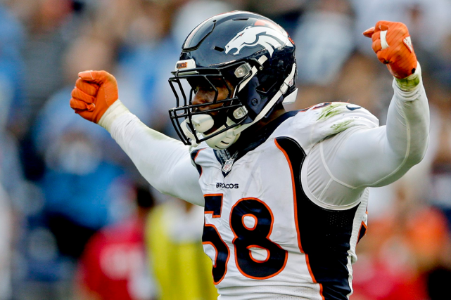 Le secondeur des Broncos de Denver, Von Miller.... (Photo Gregory Bull, archives AP)