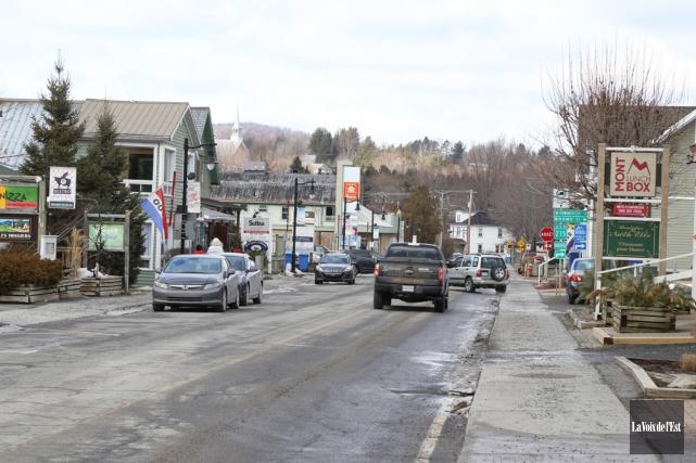Le centre-ville de Sutton.... (Janick Marois, La Voix de l'Est)