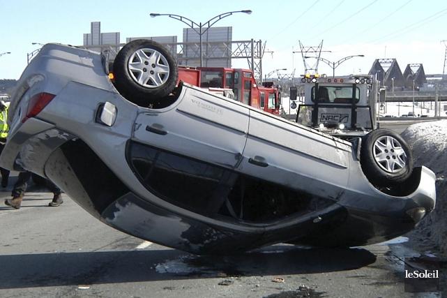 Selon nos informations, l'accident serait survenu vers 13h45... (Le Soleil, Nicolas Perron-Drolet)