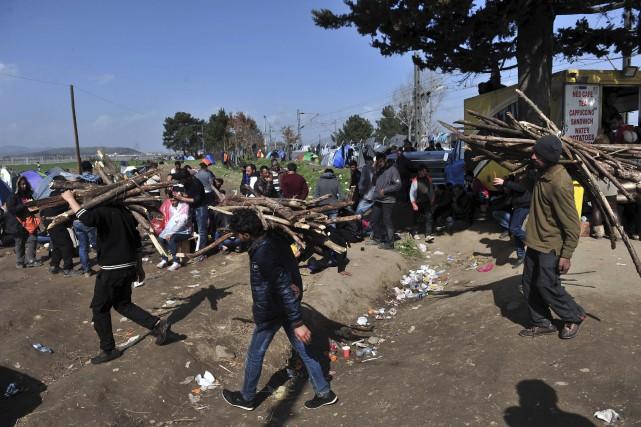 Au camp de Idomeni, à la frontière gréco-macédonienne,... (AFP, Louisa Gouliamaki)