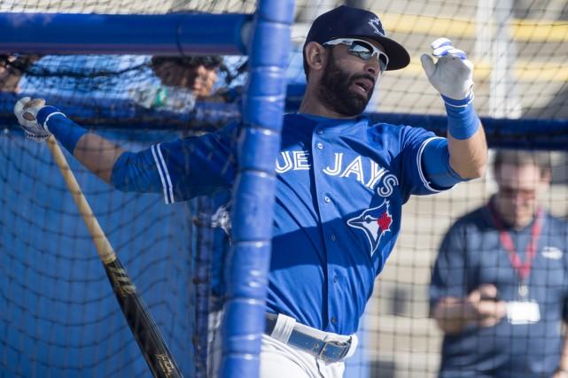 Le voltigeur des Blue Jays, Jose Bautista, participant... (Frank Gunn, La Presse Canadienne)