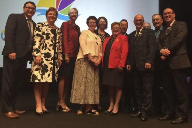 La délégation du Nouveau-Brunswick, dirigée par la ministre... (Photo fournie)