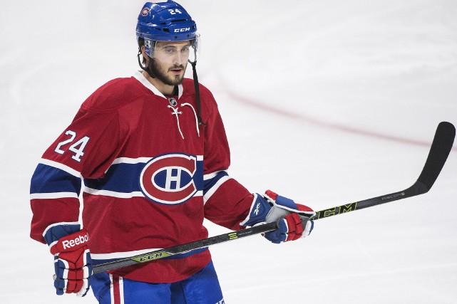 Phillip Danault ne manquera jamais d'ardeur au jeu.... (La Presse Canadienne, Graham Hughes)