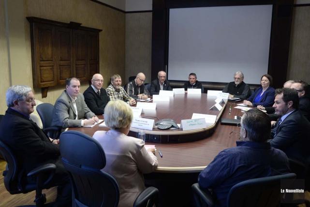 La rencontre des maires des municipalités concernées par... (Sylvain Mayer, Le Nouvelliste)