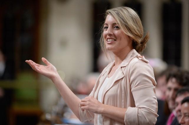 La semaine dernière, la ministre du Patrimoine Mélanie... (PHOTO ARCHIVES LA PRESSE CANADIENNE)
