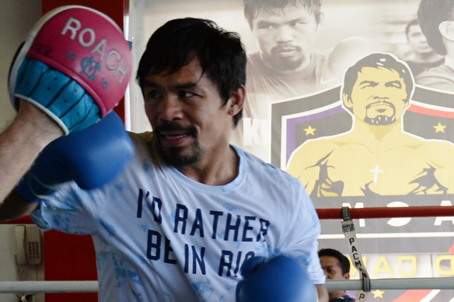 Manny Pacquiao... (Photo Ted Aljibe, AFP)