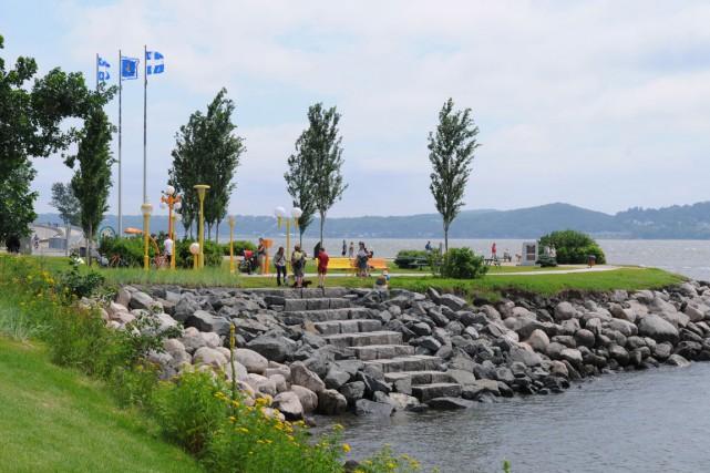 La promenade Samuel-De-Champlain, à Sillery, et le parc... (PHOTO FOURNIE PAR LA VILLE DE QUÉBEC)
