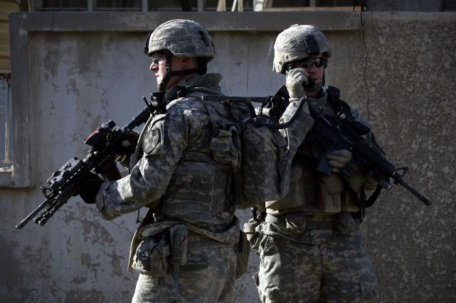 Des soldats américains en Irak.... (PHOTO DAVID FURST, ARCHIVES AGENCE FRANCE-PRESSE)