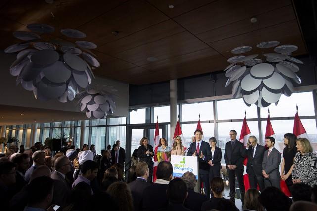 Justin Trudeau, le 1er mars à Vancouver, lors... (Photo Darryl Dyck, PC)