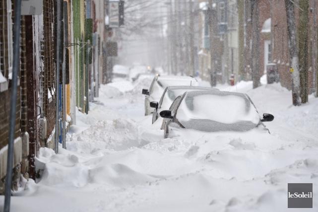 De 20 à 30 centimètres de neige sont... (Le Soleil, Yan Doublet)