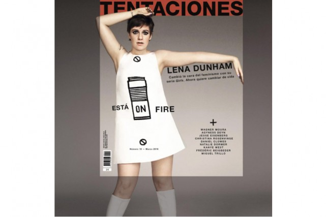 La photo retouchée de Lena Dunham... (PHOTO TIRÉE D'INSTAGRAM)