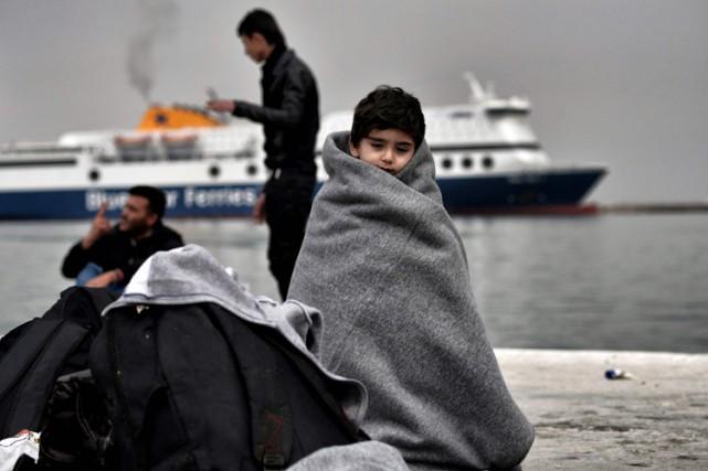 La quasi-totalité des migrants sont passés par la... (PHOTO AFP)