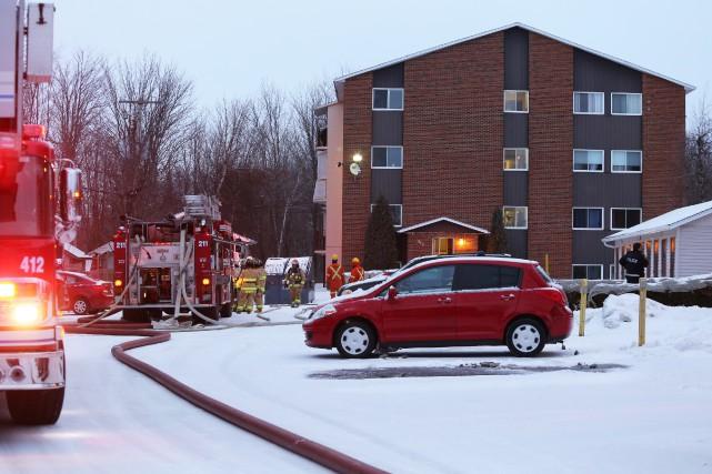 Un incendie a endommagé un appartement du 315,... (Christophe Boisseau-Dion)