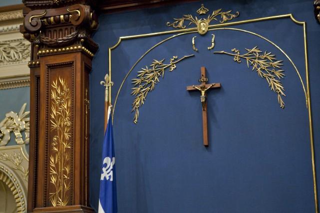 Le débat de la laïcité, au lendemain de la défaite du Parti québécois, le 7... (Francis Vachon, La Presse Canadienne)