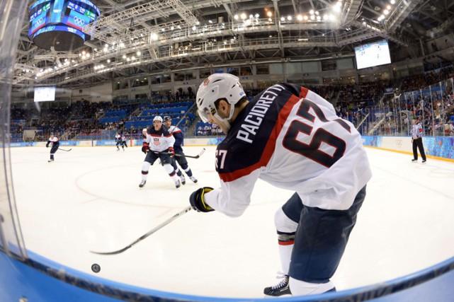 Max Pacioretty faisait partie de l'équipe des États-Unis... (PHOTO AFP)