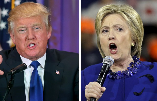 Donald Trump et Hillary Clinton... (Associated Press)