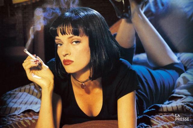 Uma Thurman dans Pulp Fiction, un film produit... (PHOTO FOURNIE PAR MIRAMAX)