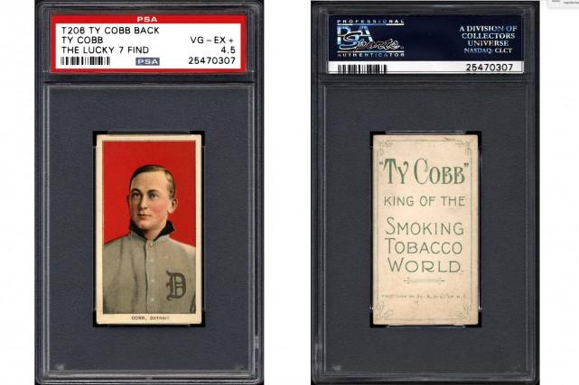 L'une des sept cartes identiques du légendaire Ty... (AP, Professional Sports Authenticator)