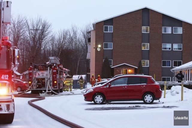 Un incendie dans un appartement de la rue... (Christophe Boisseau-Dion, La Voix de l'Est)