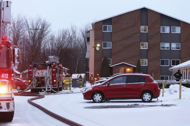 Un incendie dans un appartement de la rue... (photo Christophe Boisseau-Dion)