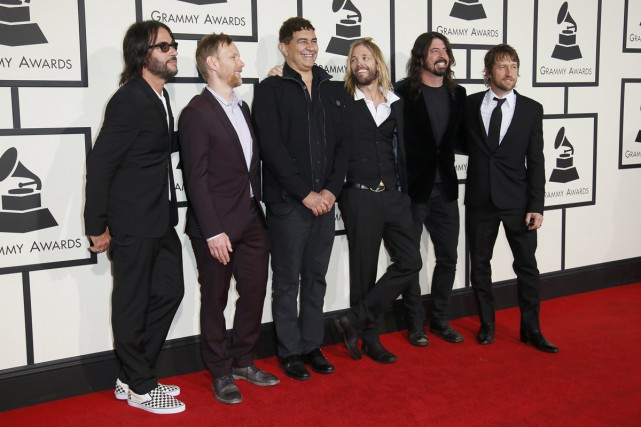 Foo Fighters lors des Grammy Awards le 15... (PHOTO ARCHIVES REUTERS)