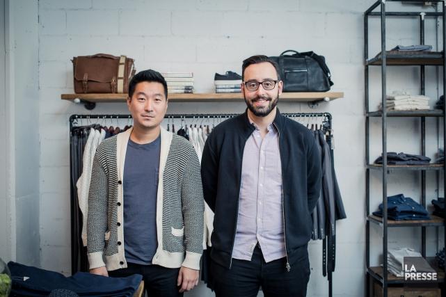 Ethan Song et Hicham Ratnani,cofondateurs deFrank and Oak,... (LA PRESSE, EDOUARD PLANTE-FRÉCHETTE)