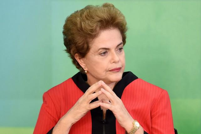 La présidente du Brésil Dilm Roussef aurait, selon... (PHOTO EVARISTO SA, AFP)