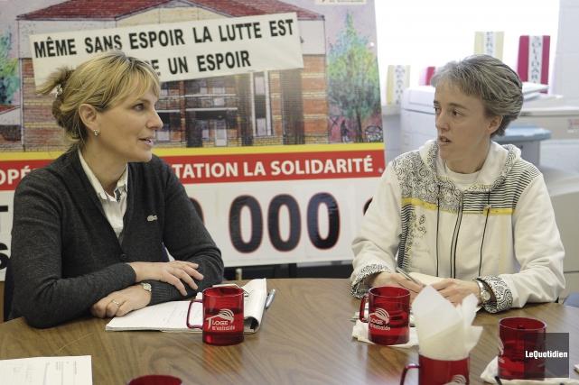 Josée Néron et Sonia Côté ont eu une... (Photo Le Quotidien, Mariane L. St-Gelais)