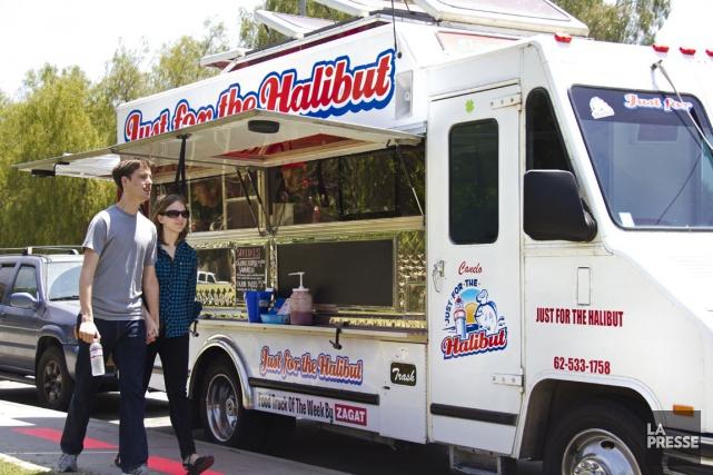Un camion de cuisine de rue à Los... (Archives La Presse)