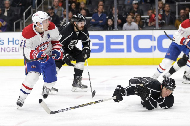 L'attaquant du Canadien Brendan Gallagher a tenté un... (AP, Jae C. Hong)
