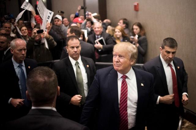 Donald Trump était de passage dans le Maine,... (PHOTO HILLARY SWIFT, THE NEW YORK TIMES)