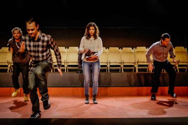 Iannicko N'Doua, Solo Fugère, Alice Pascual et Étienne... (PHOTO FOURNIE PAR LA COMPAGNIE PORTE PAROLE)