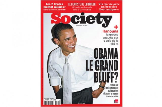 Society, un des derniers arrivés de la presse magazine, a fêté... (CAPTURE D'ÉCRAN)