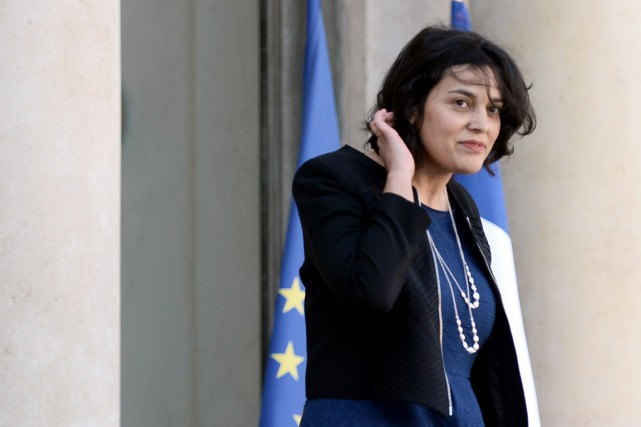 La ministre du Travail Myriam El Khomri... (Photo STEPHANE DE SAKUTIN, AFP)