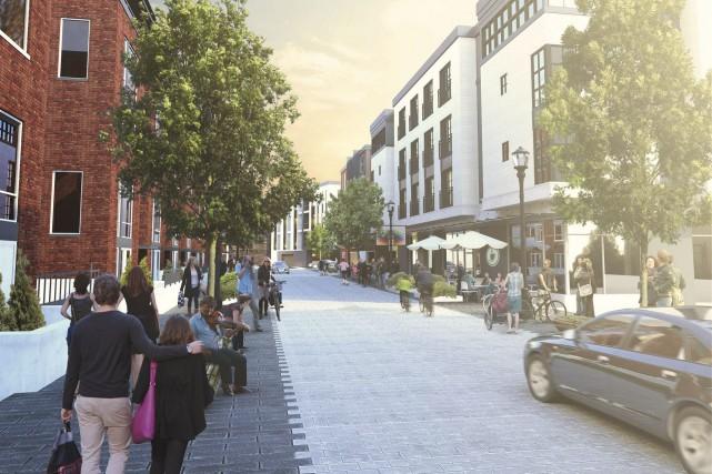 Le secteur de la rue Morin pourrait bientôt... (Courtoisie, Ville de Gatineau)