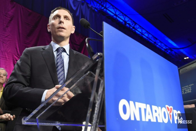 Patrick Brown, chef du Parti PC de l'Ontario... (Frank Gunn, Archives PC)