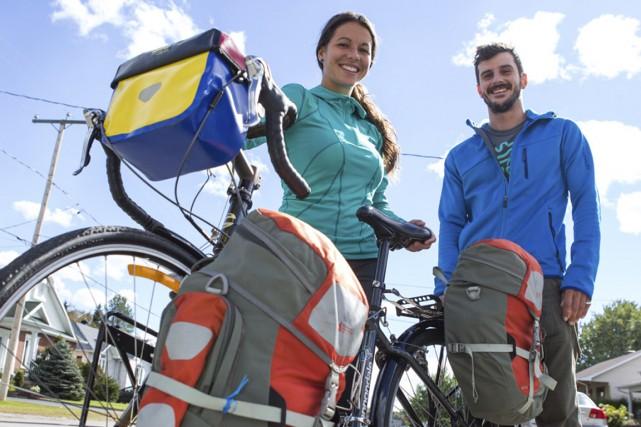 Justine l'Heureux et son copain Jansen Schmitt... (Olivier Croteau)