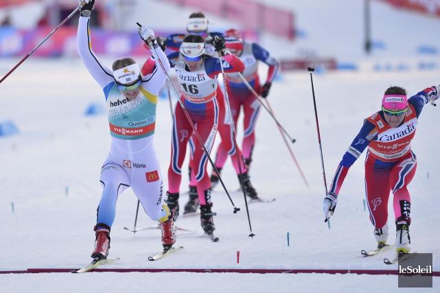 La Suédoise Stina Nilsson a mené du début... (Le Soleil, Yan Doublet)