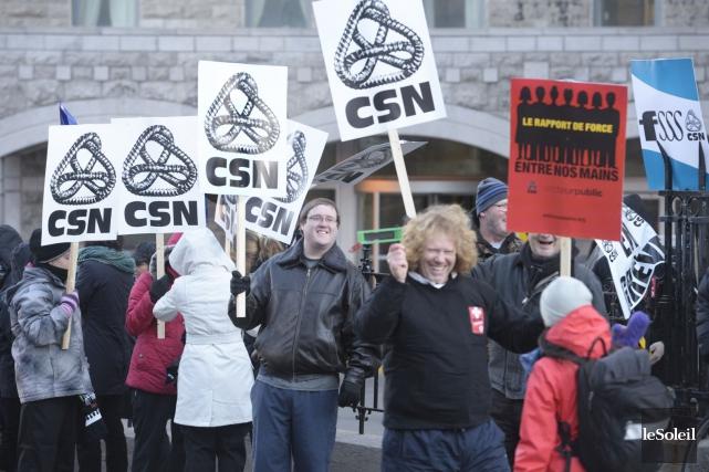 La FSSS-CSN représente 110000 des 420000 membres du... (Photothèque Le Soleil)
