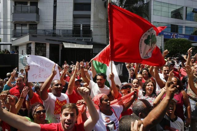 Samedi matin, des militants du Parti des travailleurss'étaient... (Photo Andre Penner, AP)