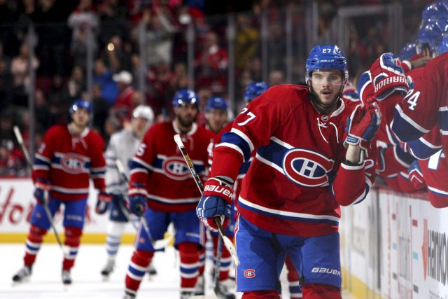 Alex Galchenyuk formera un trio avec Max Pacioretty et... (PHOTO JEAN-YVES AHERN, ARCHIVES USA TODAY)