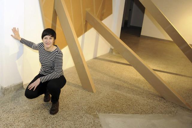 Dans sa nouvelle exposition présentée au centre Bang,... (Photo Le Progrès-Dimanche, Mariane L. St-Gelais)