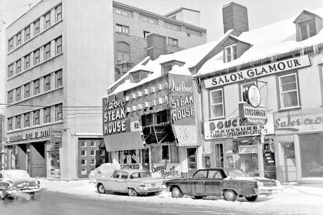 Restaurant Quebec Steak House sur la rue de... (© Jocelyn Paquet, Les Archives du Photographe)